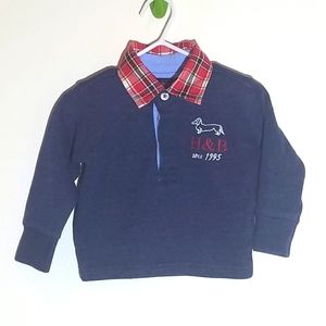 Harmont & Blaine Polo Plaid Sweater Dog 9m